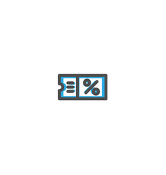 coupon icon line design e commerce icon vector image
