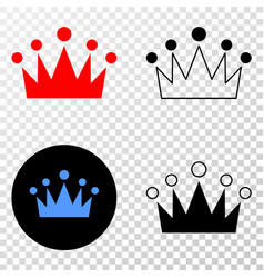 crown eps icon with contour version vector image