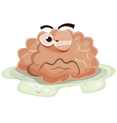 damaged brain character vector image
