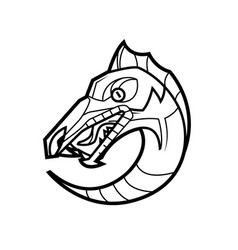 decorative dragon head vector image