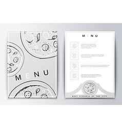 Design menu background pizza for restaurant or vector image