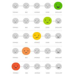Emoticons scale matrix - feedback concept design vector