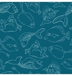 Fish underwater world Seamless vector image
