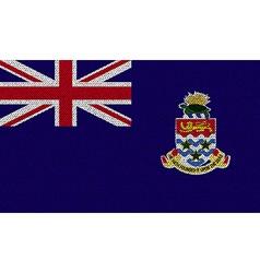 Flags cayman islands on denim texture vector