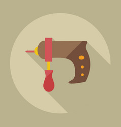 Flat modern design with shadow icons drill vector