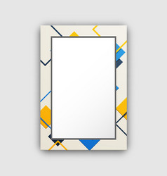 frame of light colors squares vector image