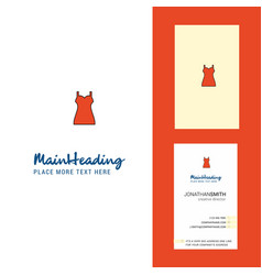 girls skirt creative logo and business card vector image