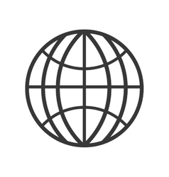 Global communication silhouette icon vector