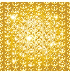 Gold chain seamless abstract pattern vector