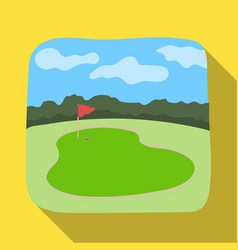 golf coursegolf club single icon in flat style vector image
