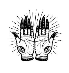 graphic hands with mystic vector image