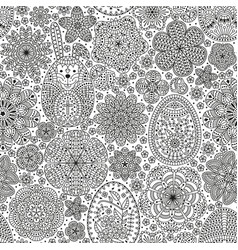 happy easter seamless pattern good design vector image