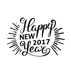 Happy New 2017 Year Holiday vector image