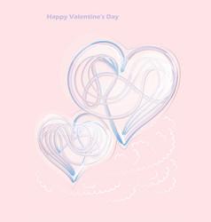 Hearts metall shape vector