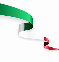 Italian flag wavy abstract background vector
