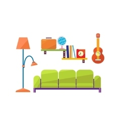 Living Room Interior Set vector