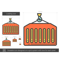 Loading line icon vector