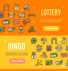 lotto signs banner horizontal set vector image