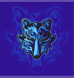 Mighty blue fox vector