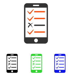 Mobile test flat icon vector