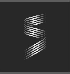 monogram s letter initial logo calligraphic vector image