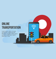 Online transportation concept ready to use vector
