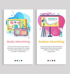 Outdoor advertisement media advertising vector