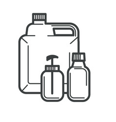 Packaging plastic bottles cosmetics or vitamins vector