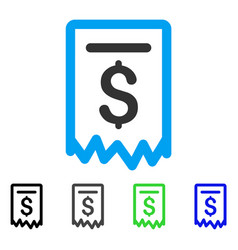 Payment receipt flat icon vector