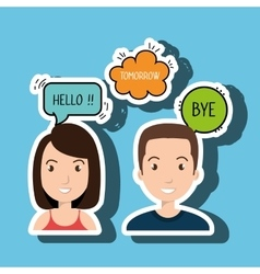 persons talk speech chat bubble vector image