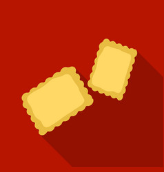 Ravioli pasta icon in flate style isolated on vector