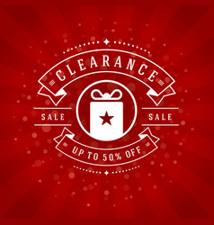 Sale banner or label design vector
