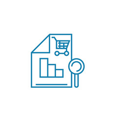 sales analytics linear icon concept sales vector image
