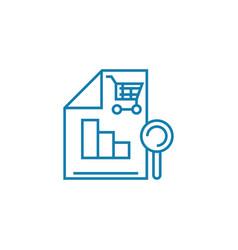 Sales analytics linear icon concept sales vector