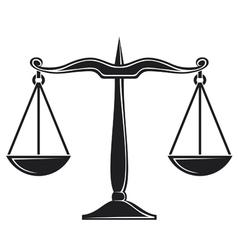 Scales justice symbol vector