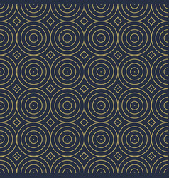 seamless decorative pattern with geometric vector image