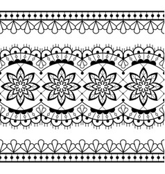 seamless lace design - black and white vector image