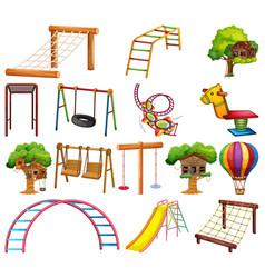 Set playground element vector
