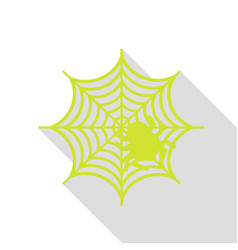 spider on web pear icon with flat vector image
