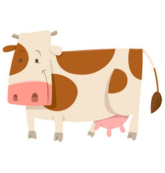 spotted cow cartoon animal vector image