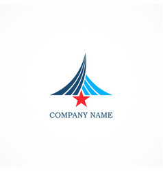 Star emblem logo vector