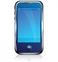Stylish blue cell phone vector