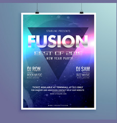 stylish modern music flyer design template vector image