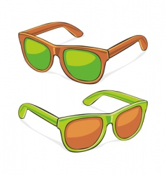 sun glasses vector image