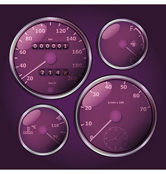 Tachometers vector image
