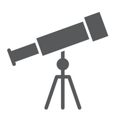 telescope glyph icon school and education vector image