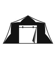 Tent icon simple style vector image