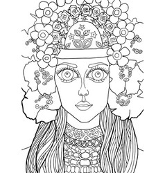 The girl with a decoration on her head 29 vector