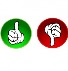 thumbs up and down buttons vector image
