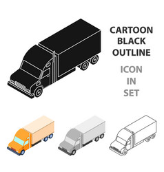 truck icon in cartoon style isolated on white vector image
